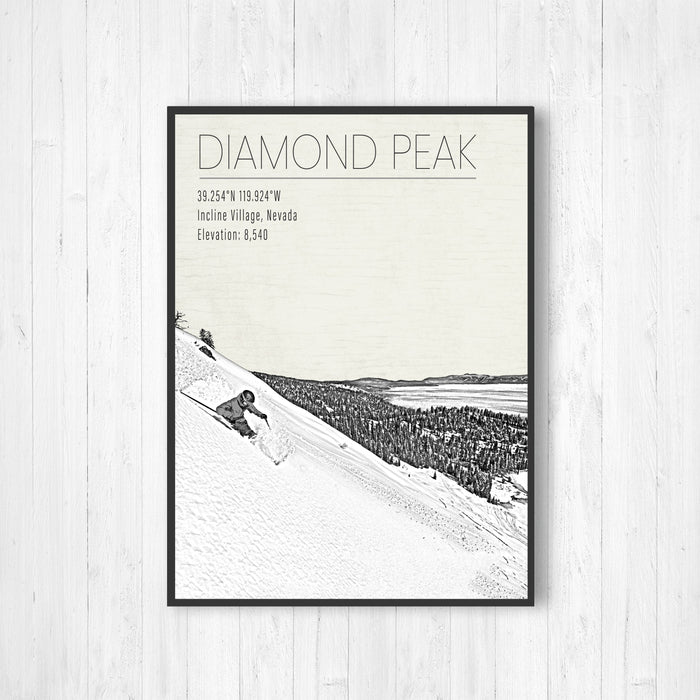 Diamond Peak Nevada Ski Resort Print