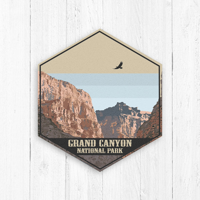Grand Canyon National Park Hexagon Illustration