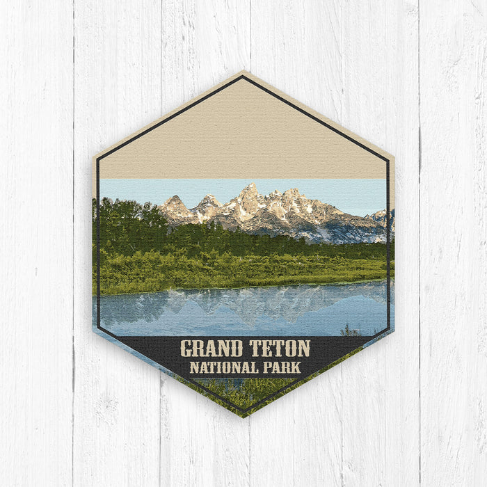 Grand Teton National Park Hexagon Illustration