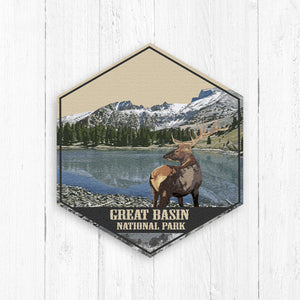 Great Basin National Park Hexagon Illustration