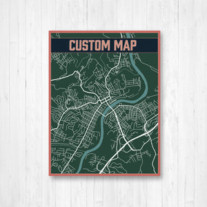Customizable Map Prints