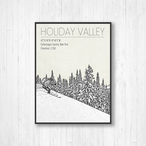 Holiday Valley Ski Area Hanging Canvas