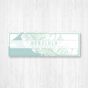 Honolulu Hawaii Street Map Sign