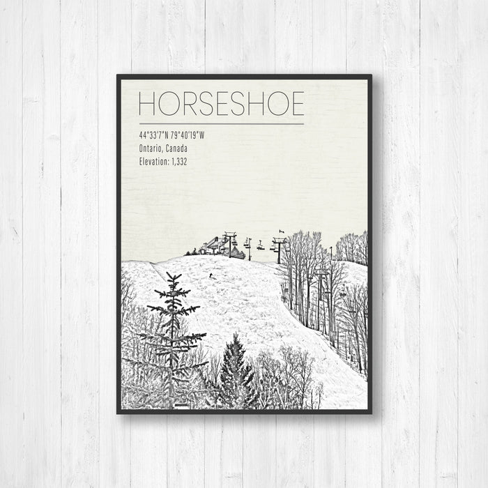 Horseshoe Ski Resort Print