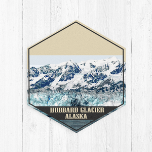 Hubbard Glacier Alaska Hexagon Illustration
