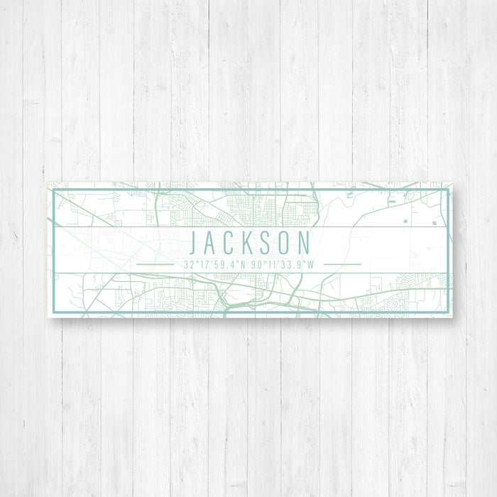 Jackson Mississippi Street Map Sign