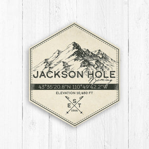 Jackson Hole Ski Resort Hexagon Badge