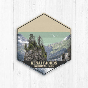 Kenai Fjords National Park Hexagon Illustration