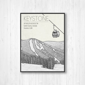 Keystone Colorado Ski Resort Print | Hanging Canvas of Keystone | Printed Marketplace