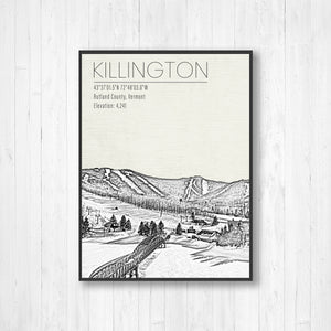 Killington Ski Resort Illustration