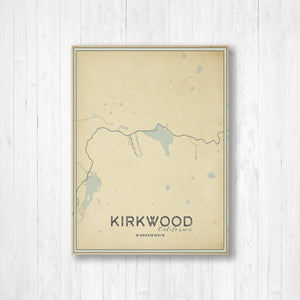 Kirkwood California Street Map By Printed Marketplace