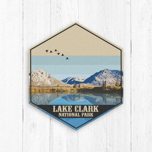 Lake Clark National Park Hexagon Illustration