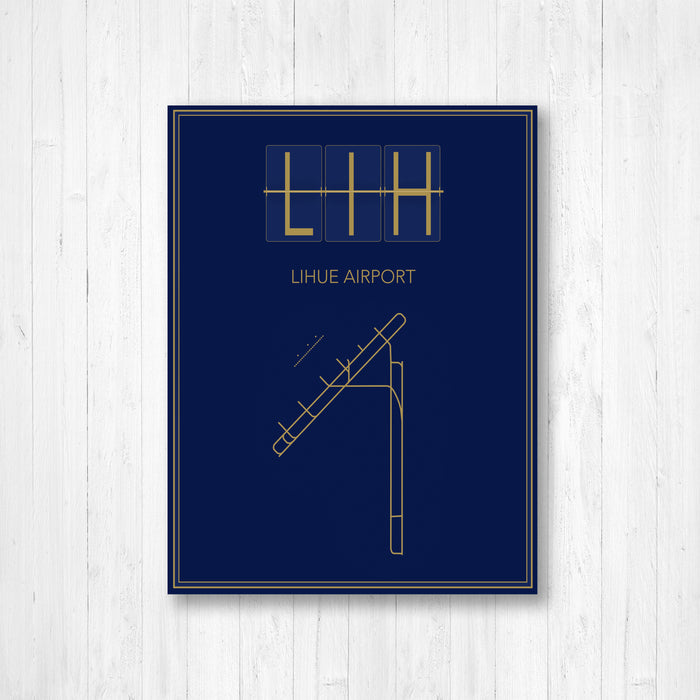 Lihue Airport Map Print