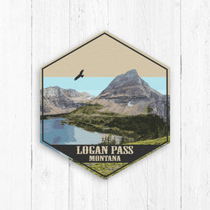 Logan Pass Hexagon Canvas Print