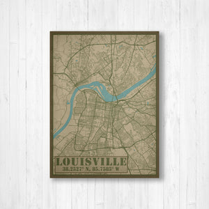 Louisville Kentucky Military Map