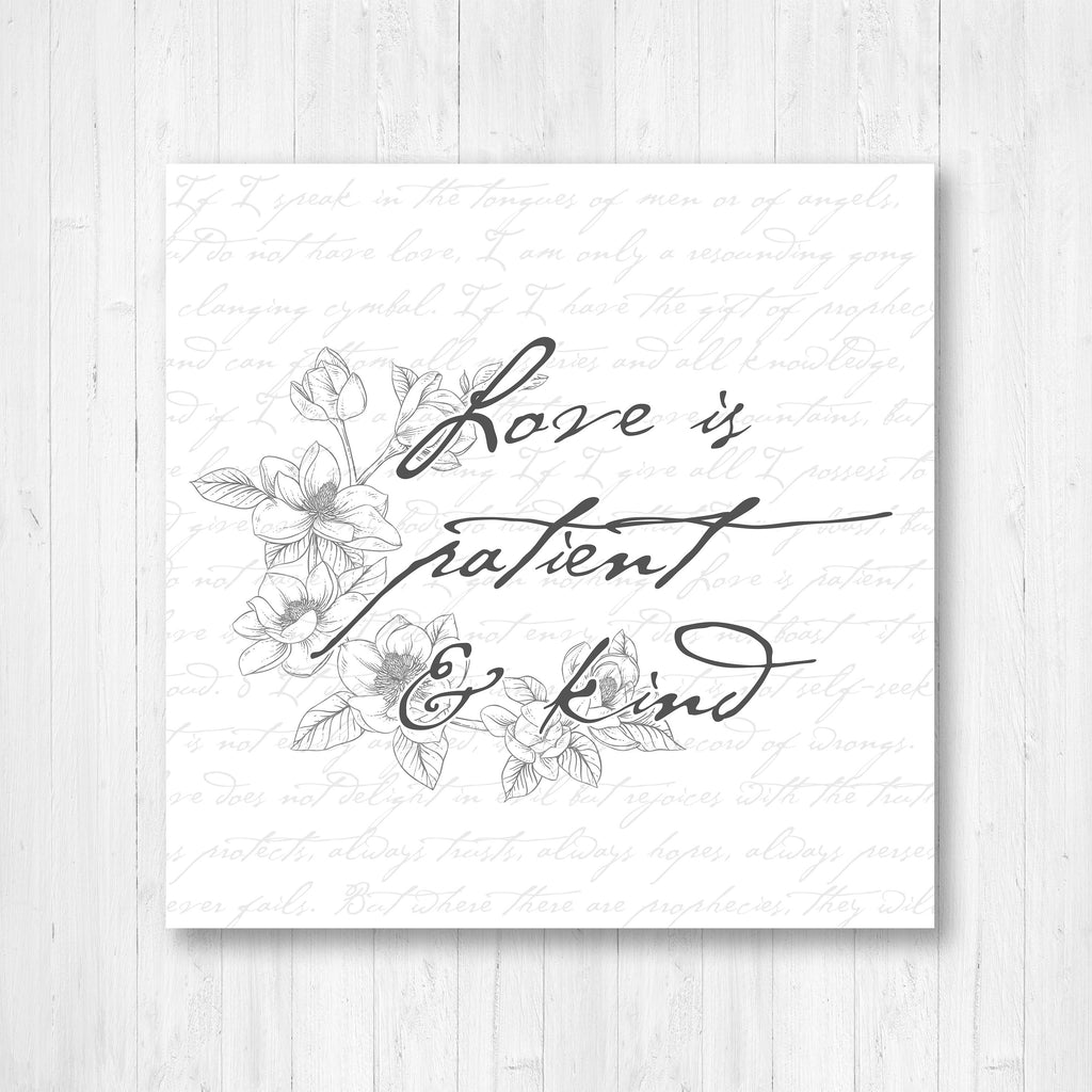 Love is patient and Kind Print