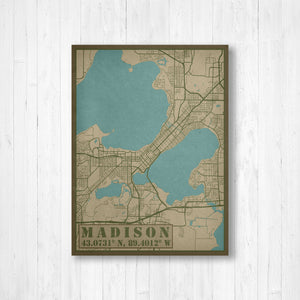 Madison Wisconsin Military Map