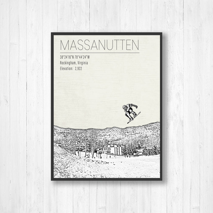 Massanutten Ski Resort Illustration Print
