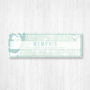 Memphis Tennessee Street Map Sign