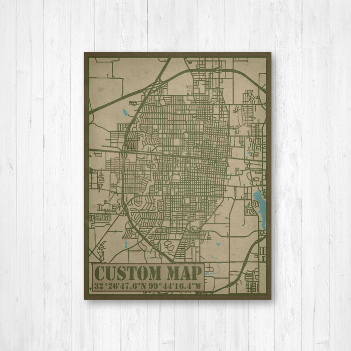 Custom City Street Map