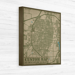 Custom City Street Maps