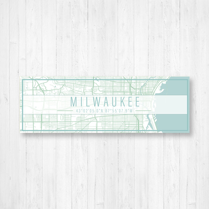 Milwaukee Wisconsin Street Map Sign