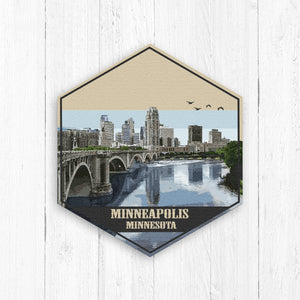 Minneapolis Minnesota Hexagon Illustration