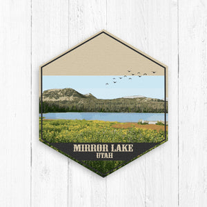 Mirror Lake Utah Hexagon Illustration
