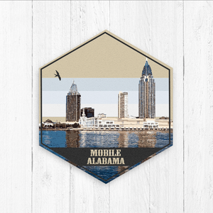 Mobile Alabama Hexagon Canvas Art