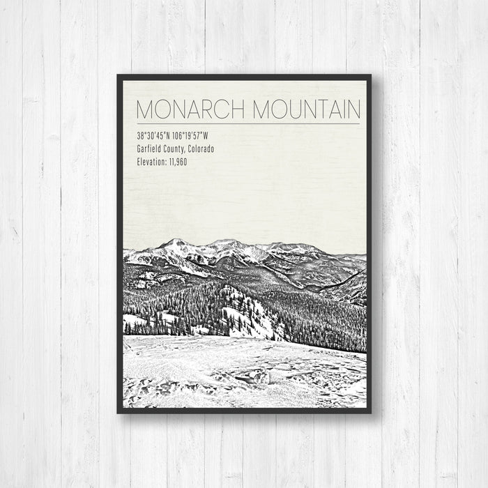 Monarch Mountain Colorado Ski Resort Print