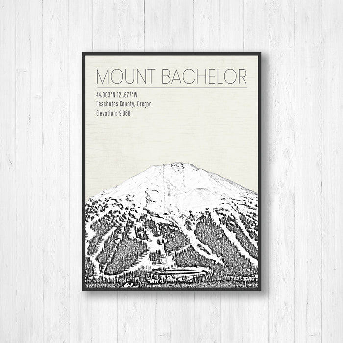 Mount Bachelor Oregon Ski Resort Print