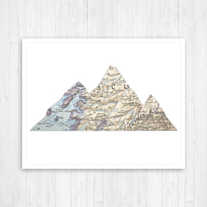 Mountains Shape Map