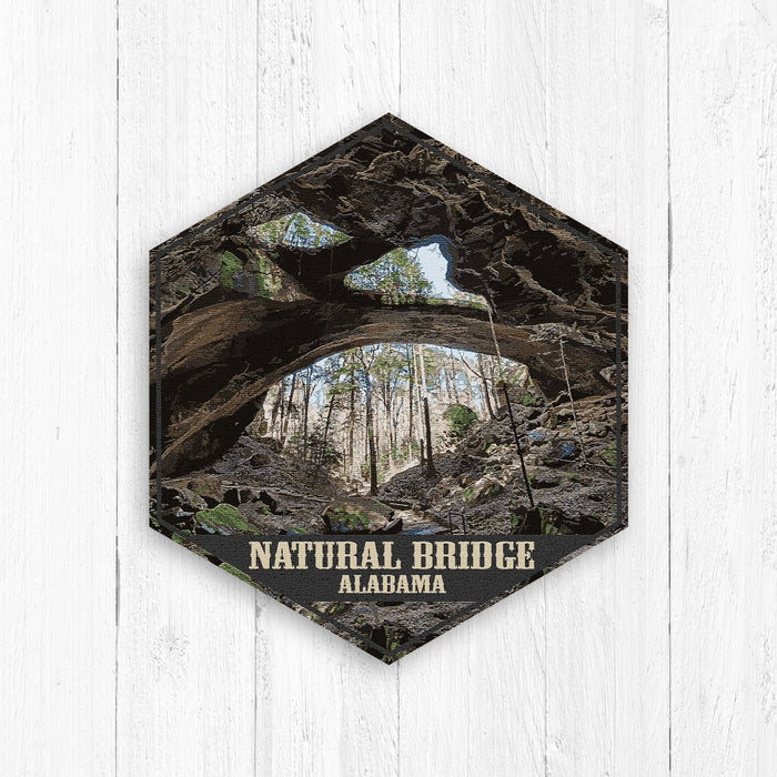 Natural Bridge Alabama Hexagon Illustration