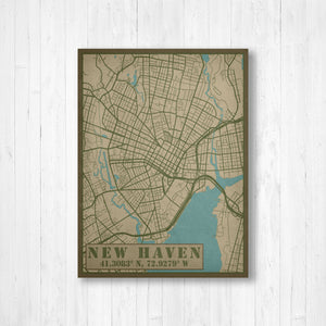 New Haven Connecticut Military Map