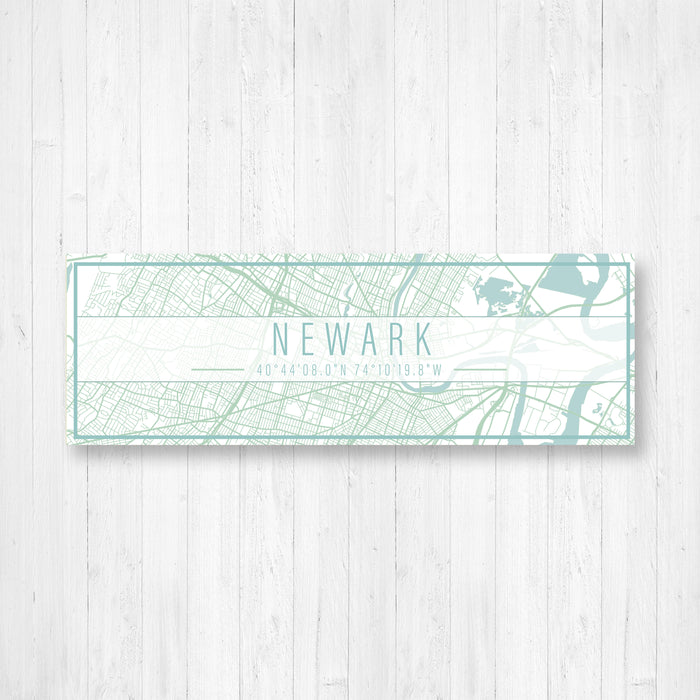 Newark New Jersey City Map Sign