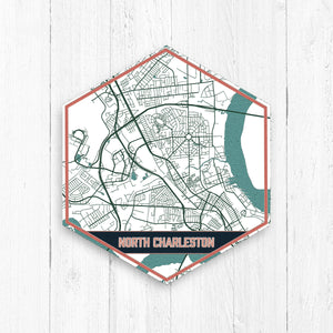 North Charleston South Carolina Hexagon Map