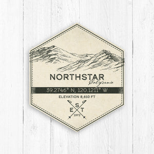 Northstar Ski Resort Hexagon Badge