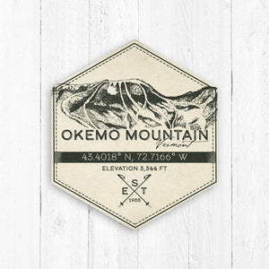 Okemo Ski Resort Hexagon Badge
