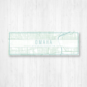 Omaha Nebraska Street Map Sign
