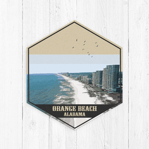 Orange Beach Alabama Hexagon Canvas Art