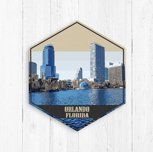 Orlando Florida Hexagon Illustration