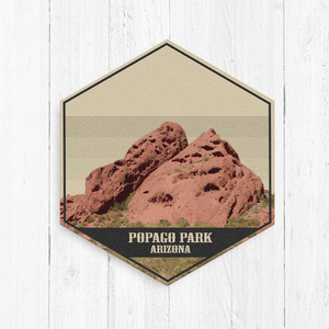 Popago Park Arizona Hexagon Illustration Canvas