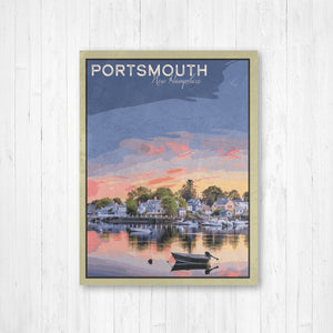 Portsmouth New Hampshire Travel Illustration