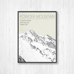 Powder Mountain Utah Ski Resort | Hanging Canvas of Powder Mountain Ski Resort | Printed Marketplace