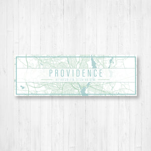 Providence Rhode Island Street Map Sign