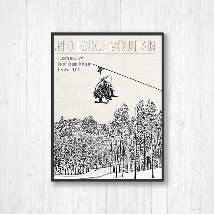 Red Lodge Mountain Montana Ski Resort Print