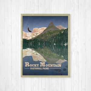 Rocky Mountain Travel Illustration