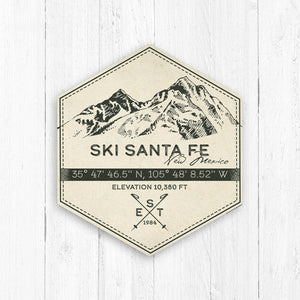 Santa Fe Ski Resort Hexagon Badge