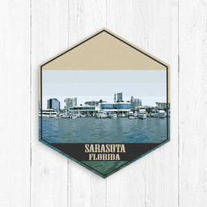 Sarasota Florida Hexagon Illustration