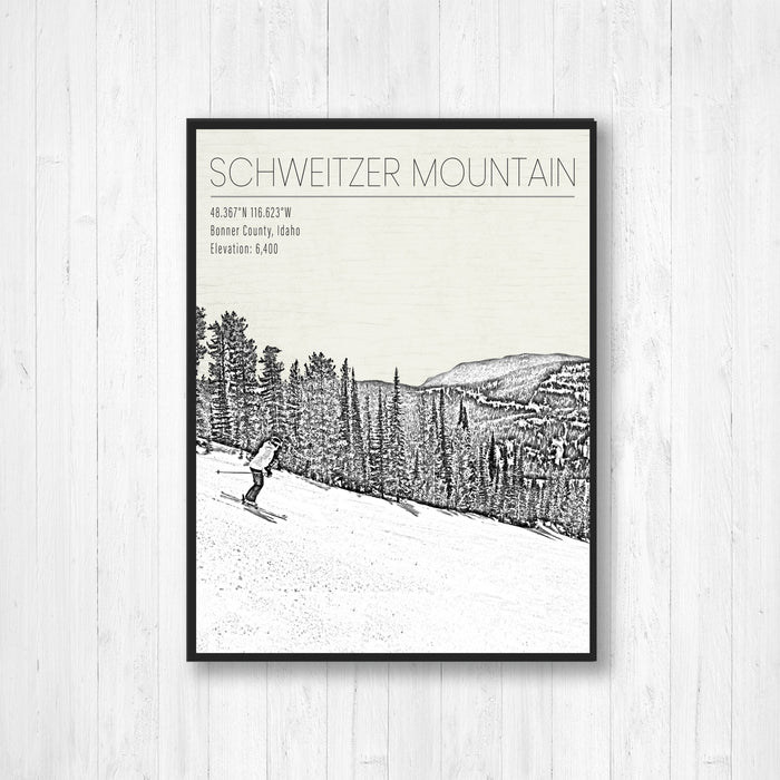 Schweitzer Mountain Idaho Ski Resort Print